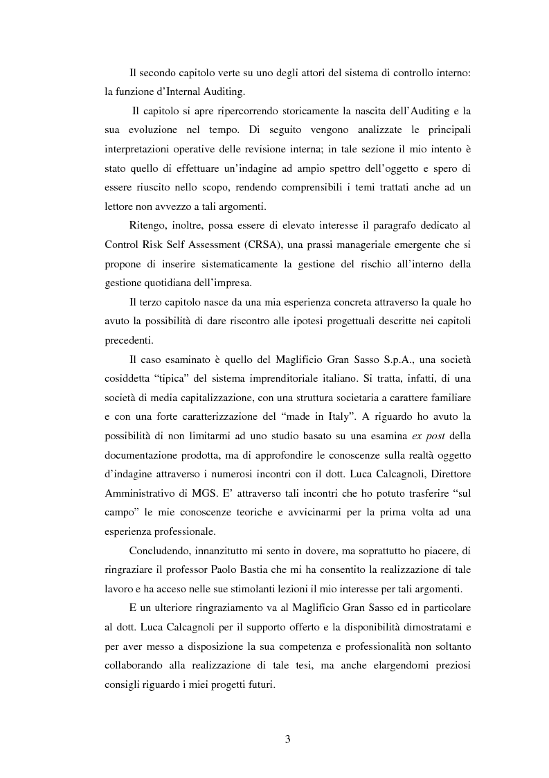 Anteprima della tesi: Il sistema dei controlli interni nelle aziende complesse, Pagina 3