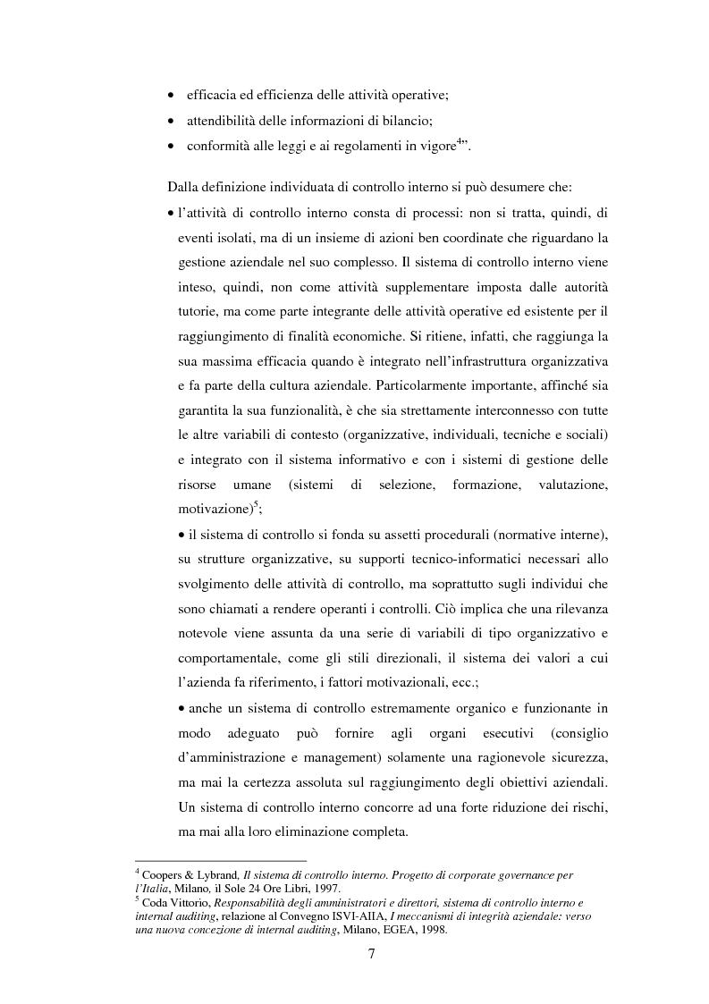 Anteprima della tesi: Il sistema dei controlli interni nelle aziende complesse, Pagina 6