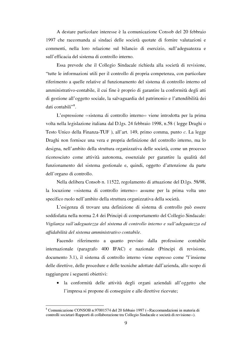 Anteprima della tesi: Il sistema dei controlli interni nelle aziende complesse, Pagina 8