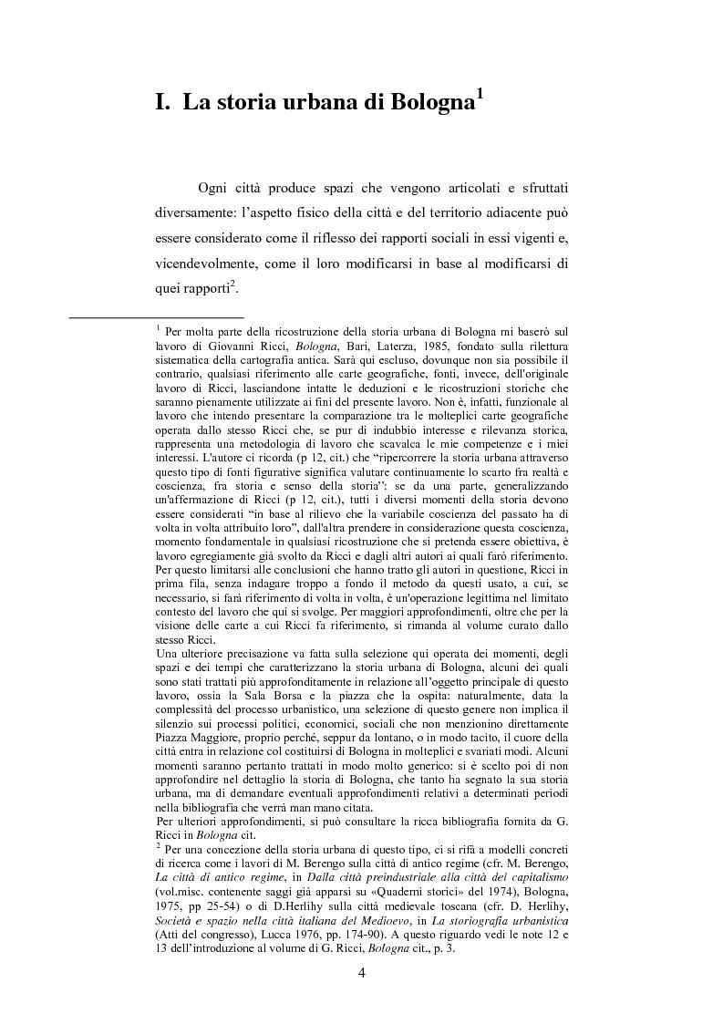 Anteprima della tesi: La Sala Borsa di Bologna: tra funzione urbanistica e ruolo pubblico, Pagina 4