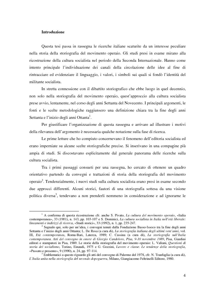 Anteprima della tesi: Socialismo e cultura in Italia nel periodo della Seconda Internazionale, Pagina 1