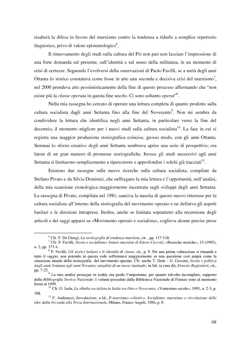 Anteprima della tesi: Socialismo e cultura in Italia nel periodo della Seconda Internazionale, Pagina 14