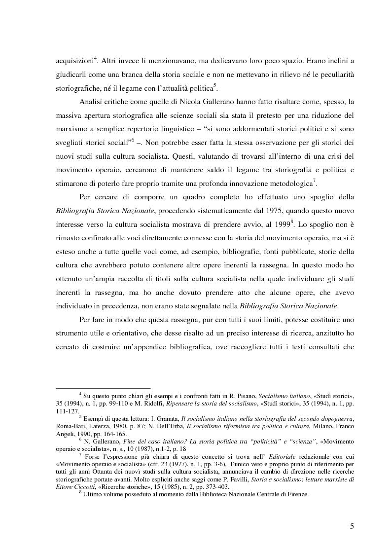 Anteprima della tesi: Socialismo e cultura in Italia nel periodo della Seconda Internazionale, Pagina 2
