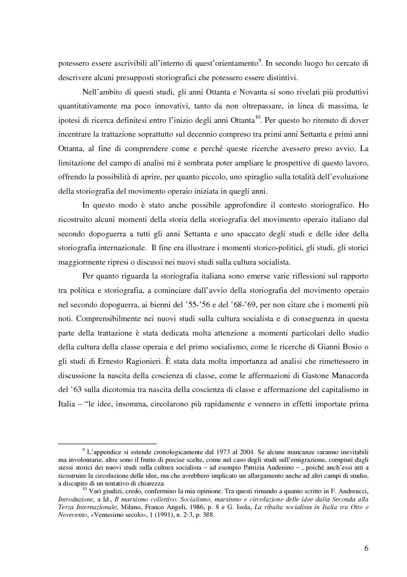Anteprima della tesi: Socialismo e cultura in Italia nel periodo della Seconda Internazionale, Pagina 3