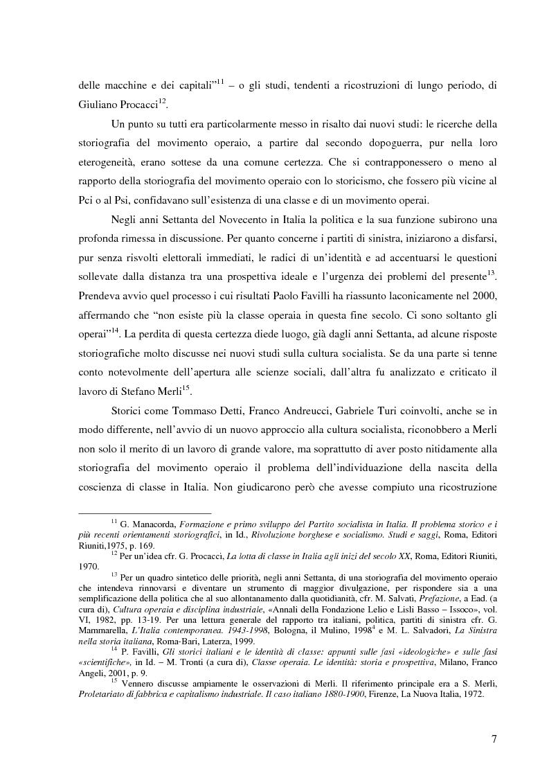Anteprima della tesi: Socialismo e cultura in Italia nel periodo della Seconda Internazionale, Pagina 4