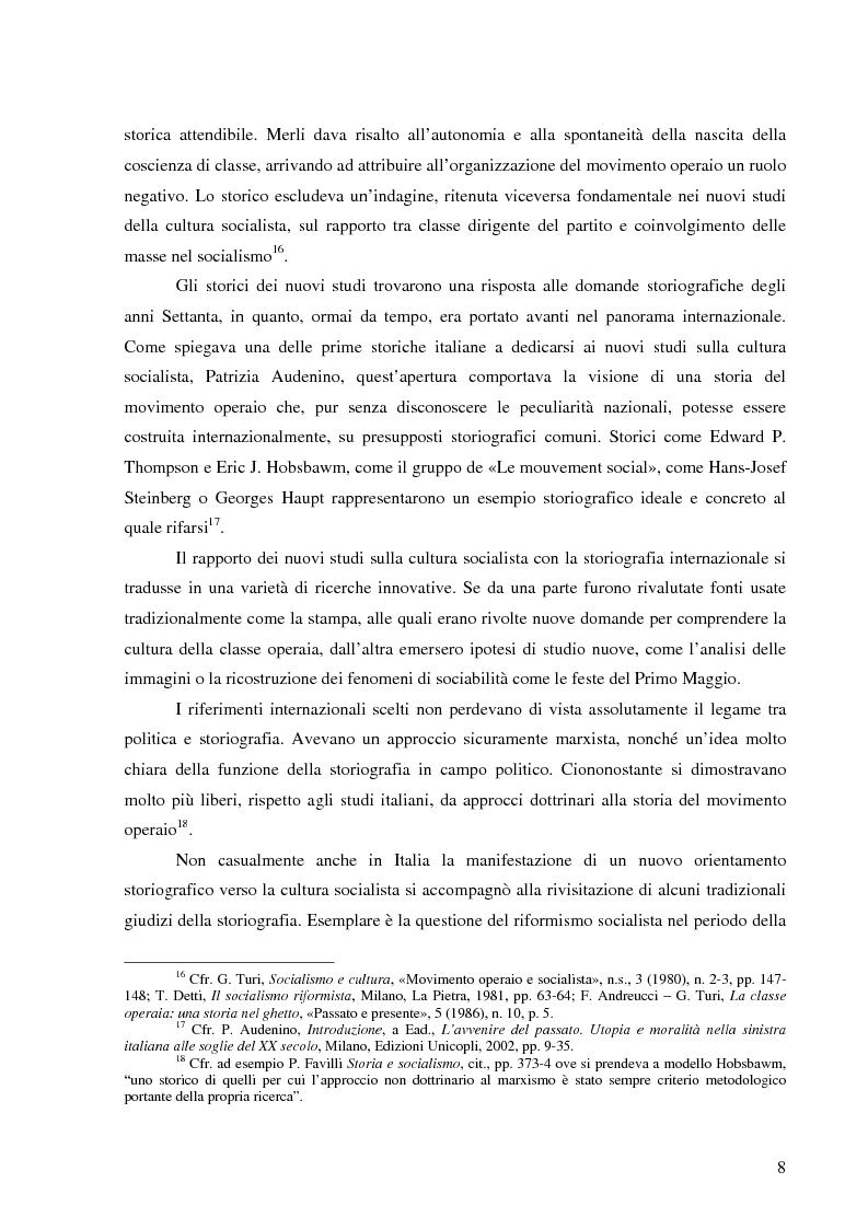 Anteprima della tesi: Socialismo e cultura in Italia nel periodo della Seconda Internazionale, Pagina 5