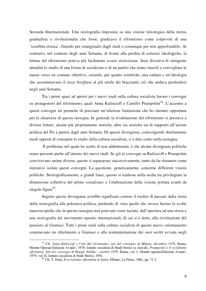 Anteprima della tesi: Socialismo e cultura in Italia nel periodo della Seconda Internazionale, Pagina 6