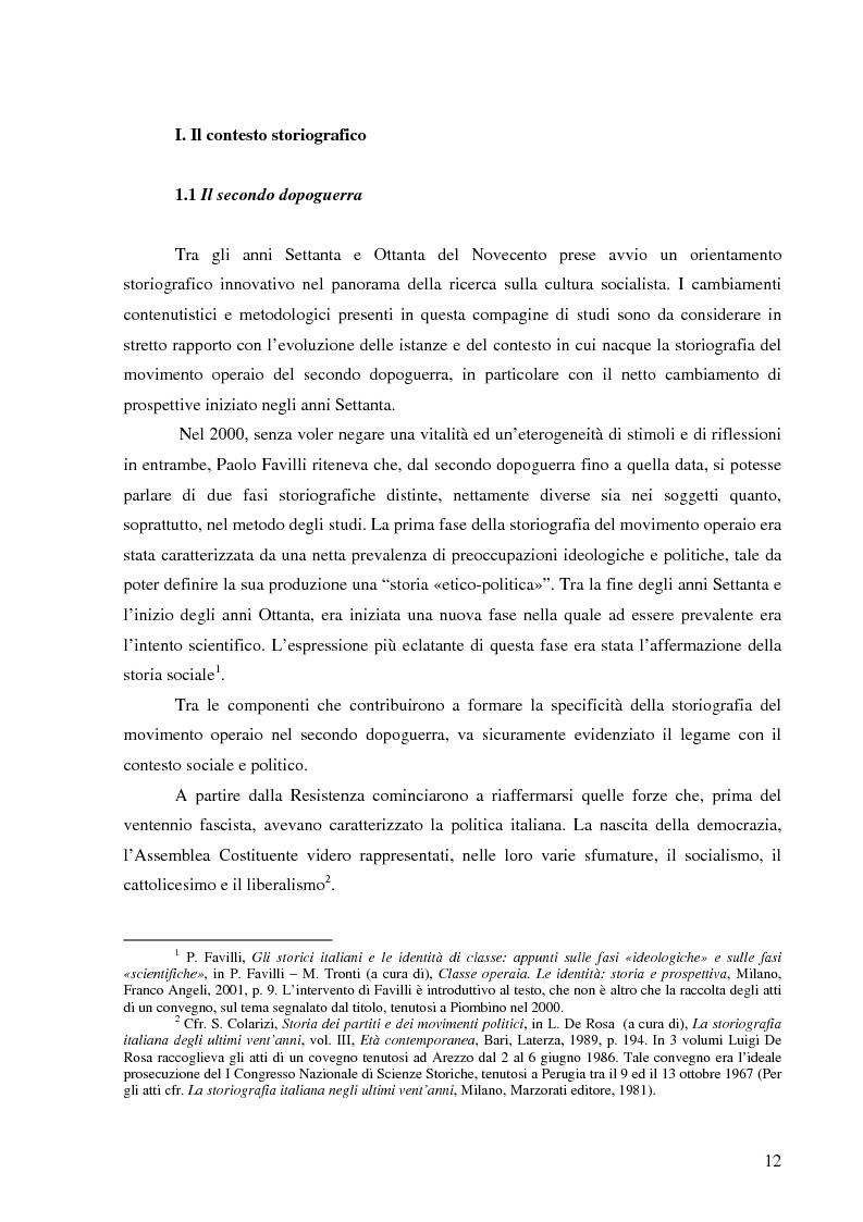 Anteprima della tesi: Socialismo e cultura in Italia nel periodo della Seconda Internazionale, Pagina 9