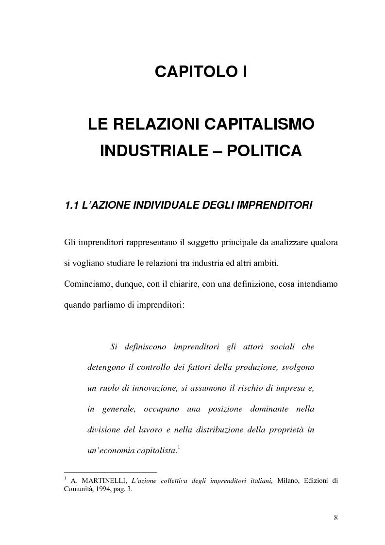 Anteprima della tesi: Politica e capitalismo industriale, Pagina 6