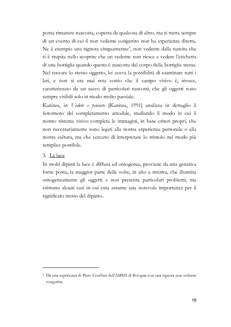 Anteprima della tesi: Arti visive per non vedenti, Pagina 13
