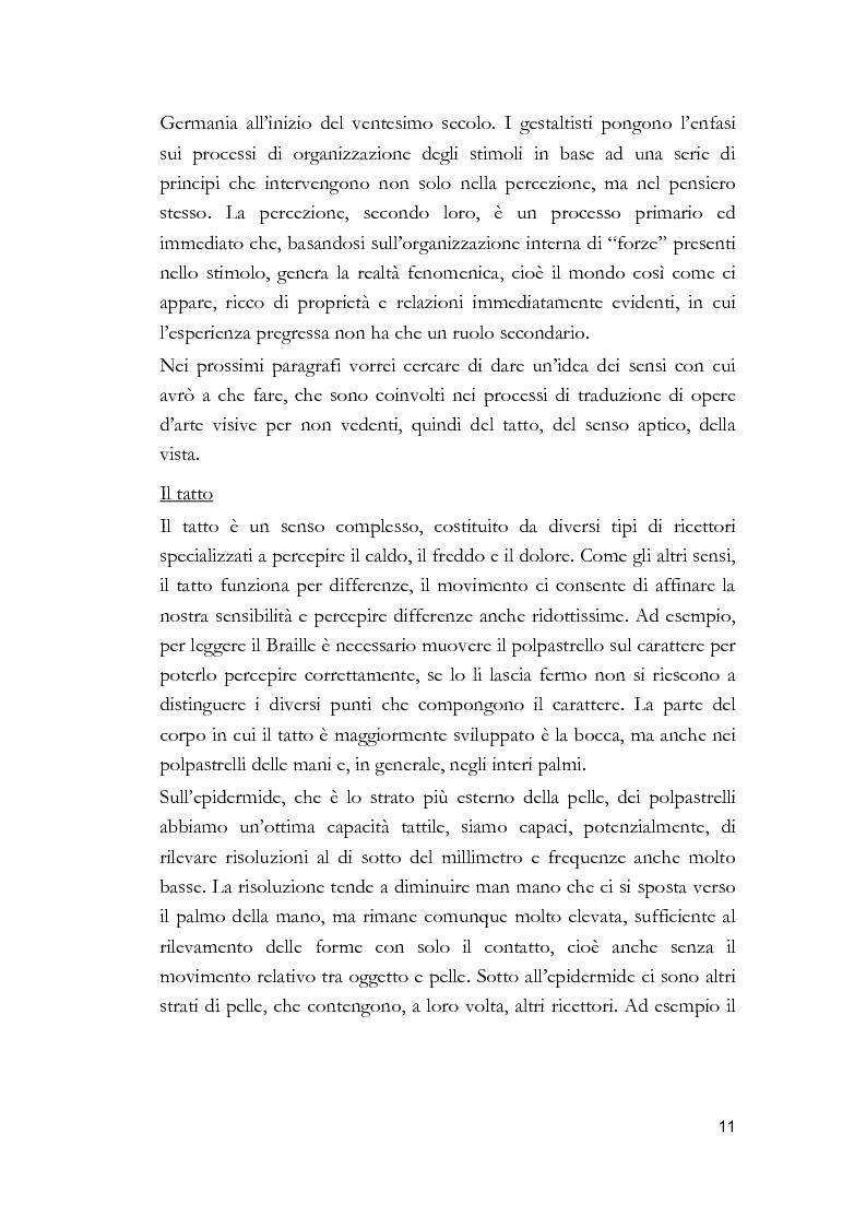 Anteprima della tesi: Arti visive per non vedenti, Pagina 5