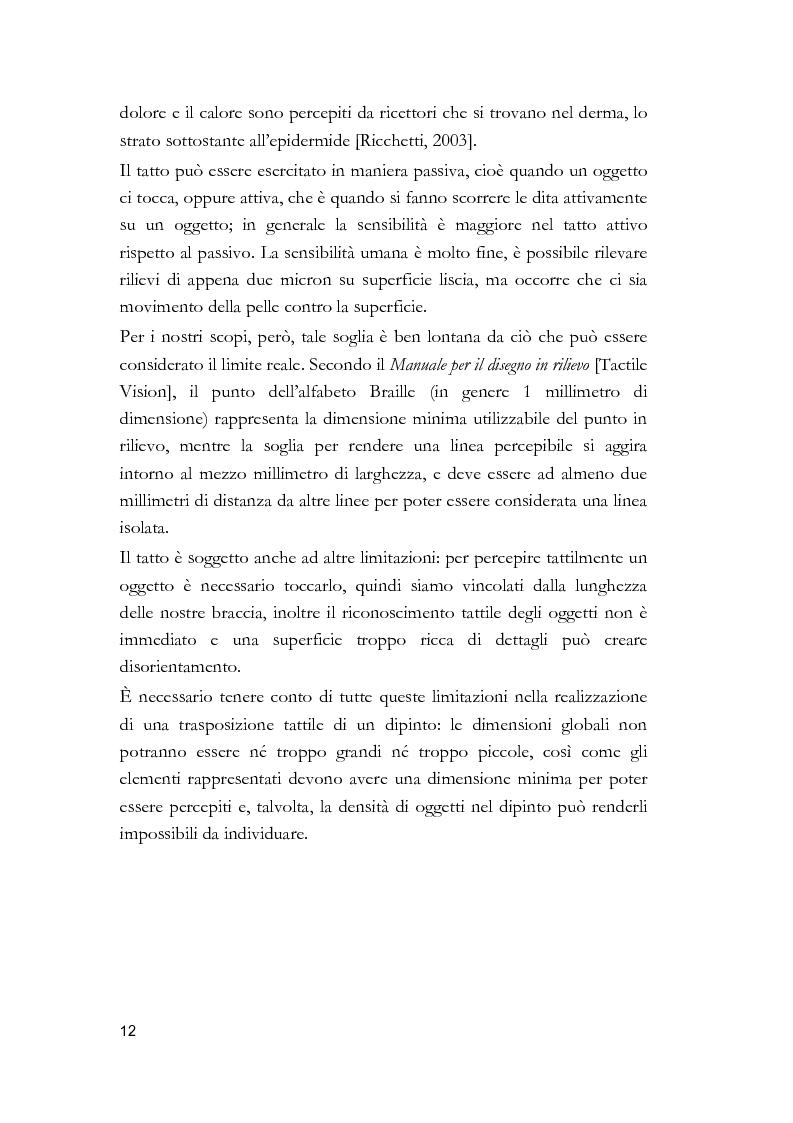 Anteprima della tesi: Arti visive per non vedenti, Pagina 6