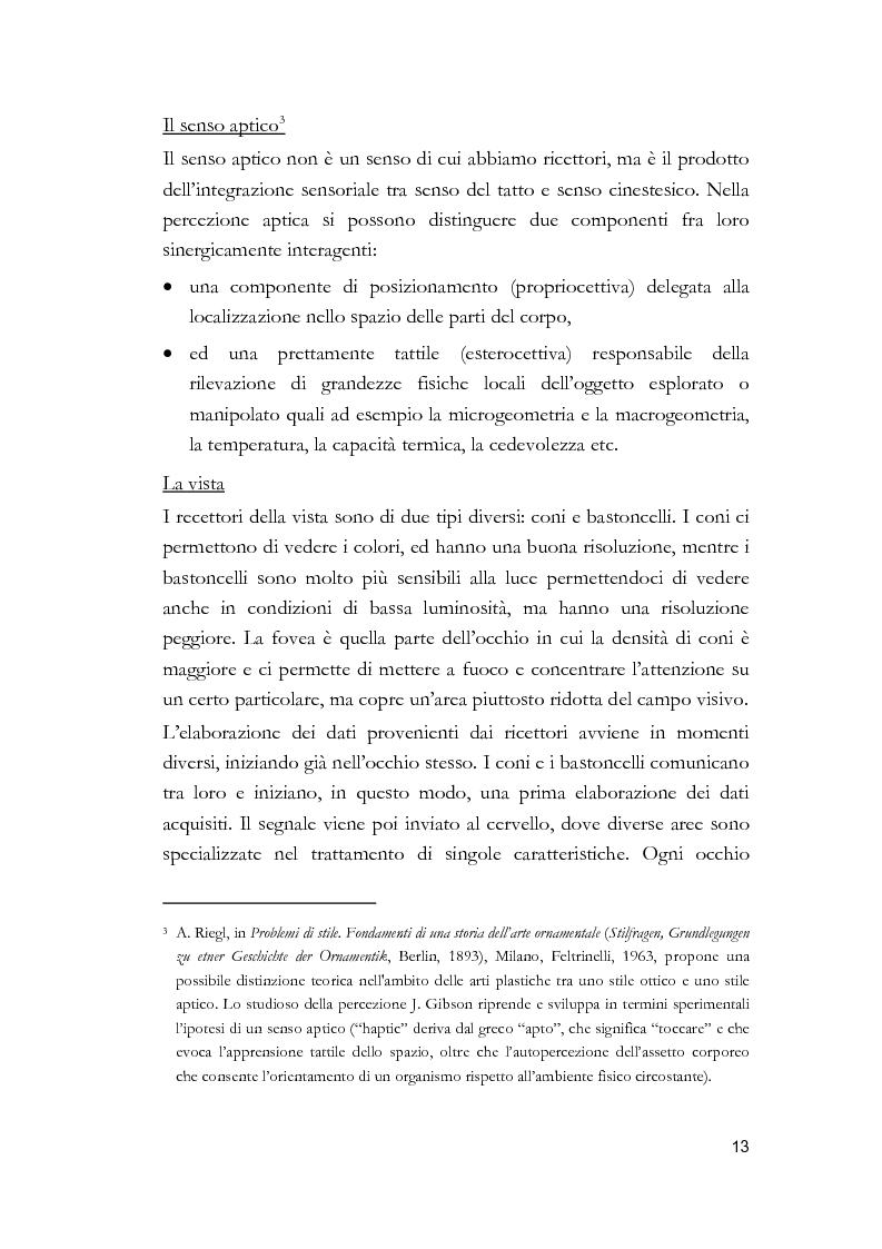 Anteprima della tesi: Arti visive per non vedenti, Pagina 7