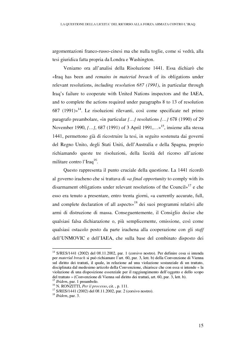 Anteprima della tesi: Ius ad bellum e ius in bello nel conflitto tra Stati Uniti e loro alleati contro l'Iraq, Pagina 15