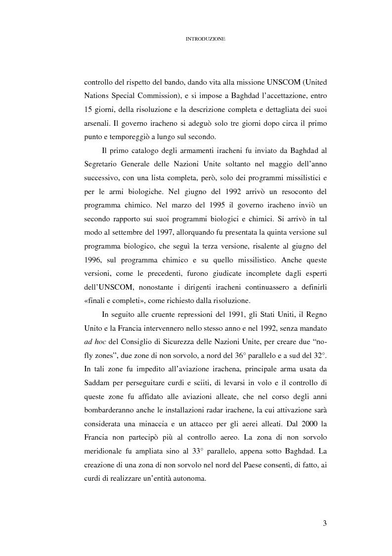 Anteprima della tesi: Ius ad bellum e ius in bello nel conflitto tra Stati Uniti e loro alleati contro l'Iraq, Pagina 3