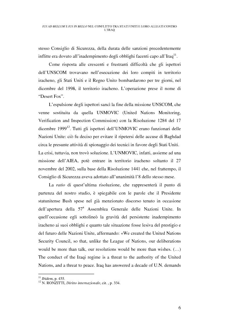 Anteprima della tesi: Ius ad bellum e ius in bello nel conflitto tra Stati Uniti e loro alleati contro l'Iraq, Pagina 6
