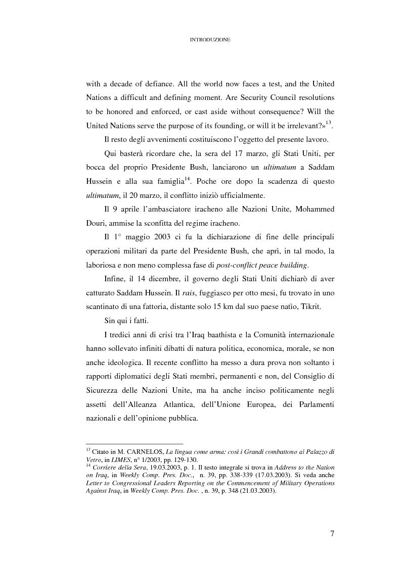 Anteprima della tesi: Ius ad bellum e ius in bello nel conflitto tra Stati Uniti e loro alleati contro l'Iraq, Pagina 7