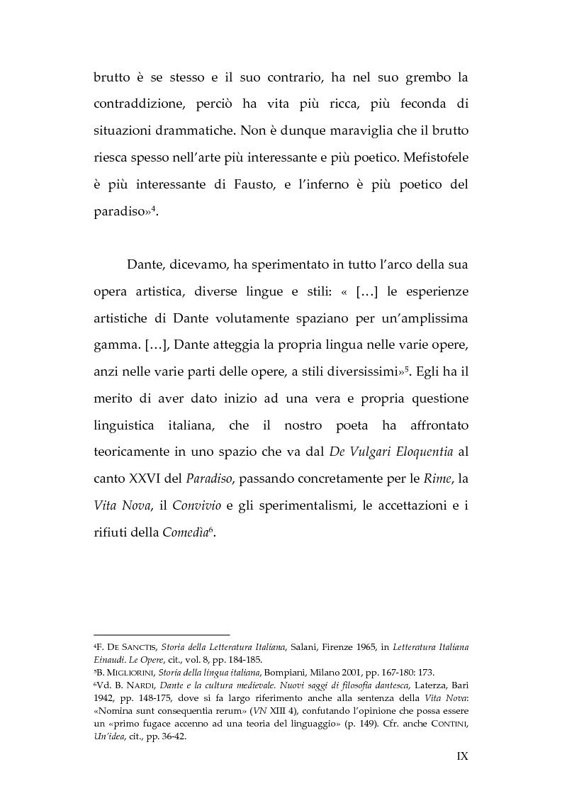 Anteprima della tesi: La lingua dei diavoli nell'Inferno dantesco, Pagina 3