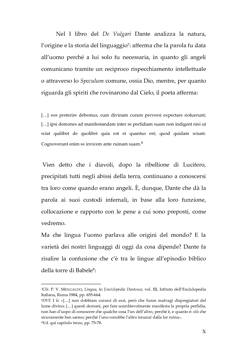 Anteprima della tesi: La lingua dei diavoli nell'Inferno dantesco, Pagina 4