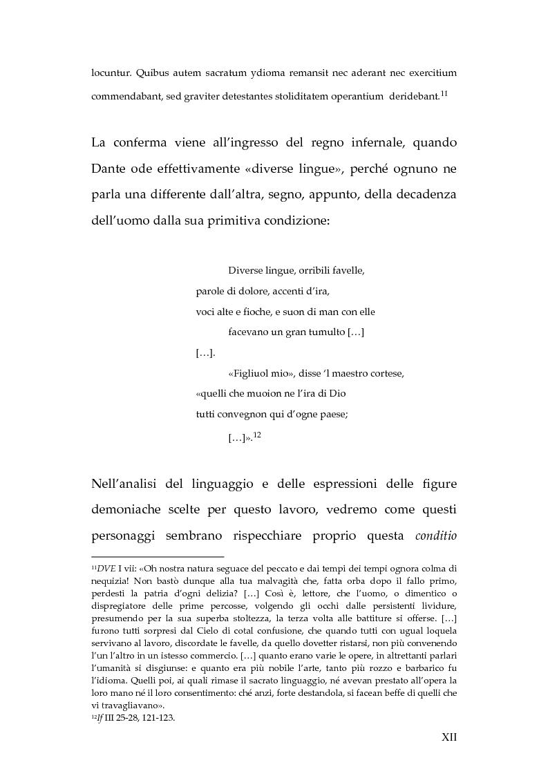 Anteprima della tesi: La lingua dei diavoli nell'Inferno dantesco, Pagina 6