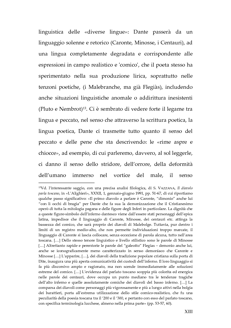 Anteprima della tesi: La lingua dei diavoli nell'Inferno dantesco, Pagina 7