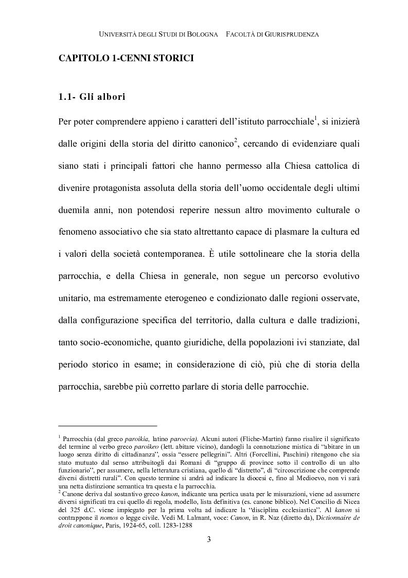 Anteprima della tesi: Il governo della parrocchia, Pagina 1