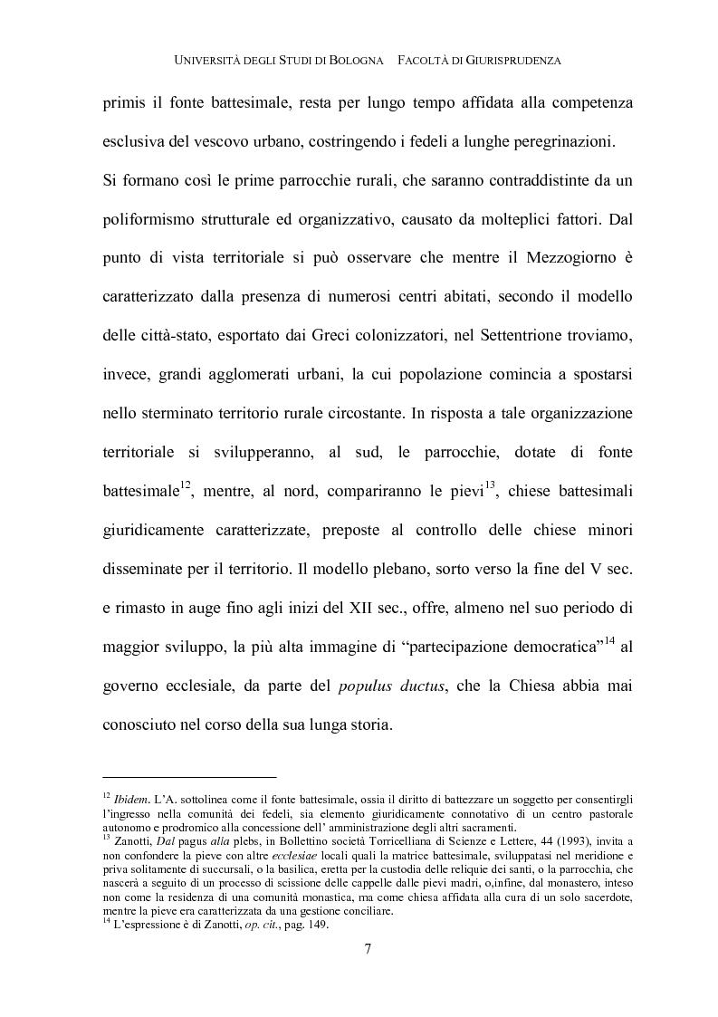 Anteprima della tesi: Il governo della parrocchia, Pagina 5