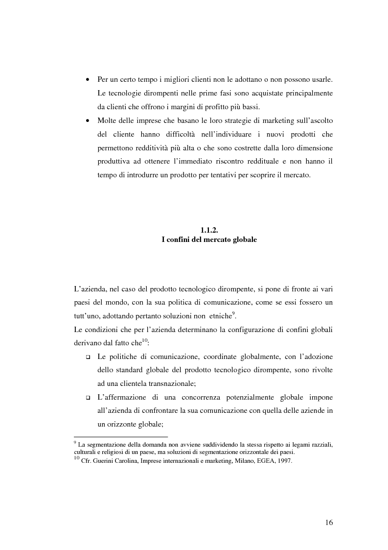 Anteprima della tesi: Le politiche di comunicazione dei prodotti tecnologici dirompenti nel mercato globale. Il caso Jepssen, Pagina 10