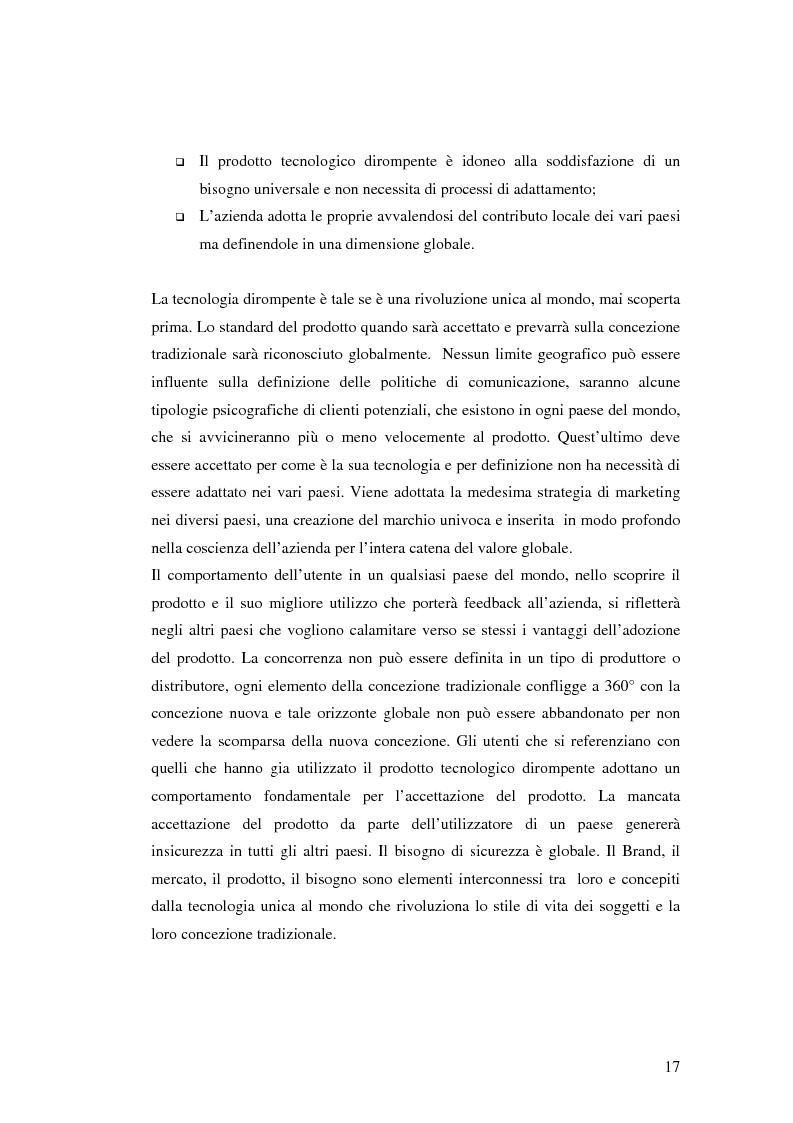 Anteprima della tesi: Le politiche di comunicazione dei prodotti tecnologici dirompenti nel mercato globale. Il caso Jepssen, Pagina 11