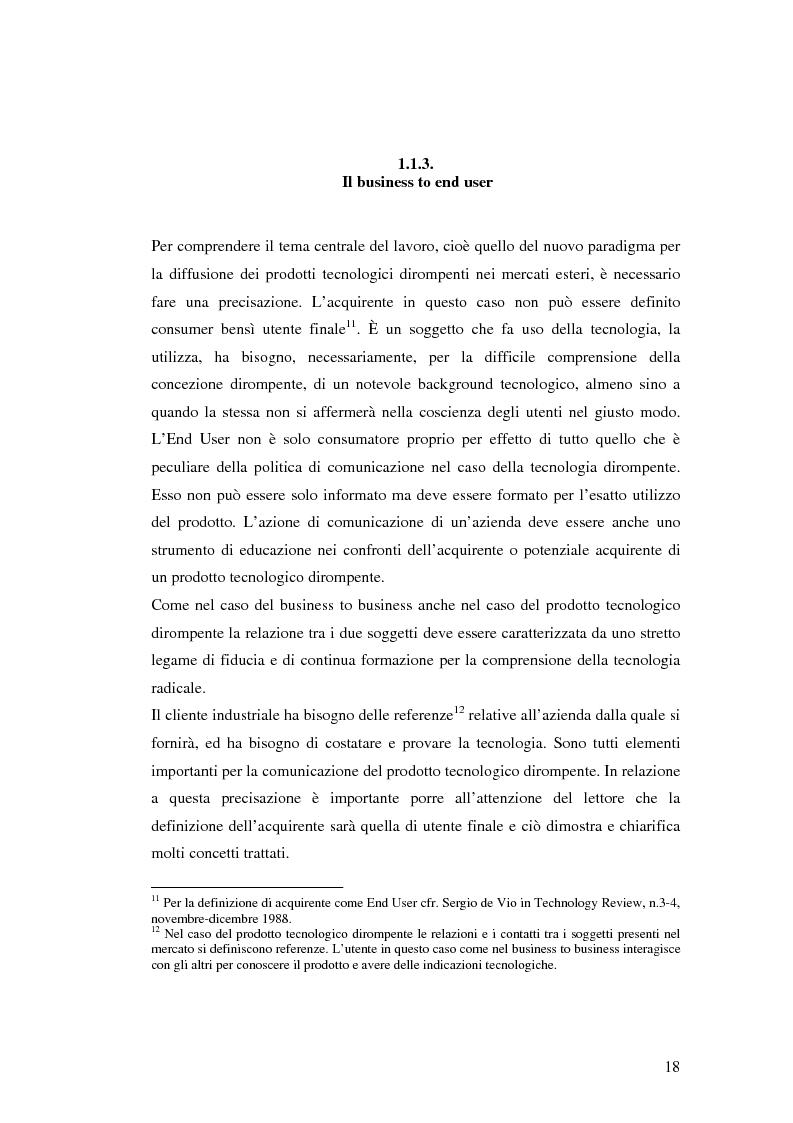 Anteprima della tesi: Le politiche di comunicazione dei prodotti tecnologici dirompenti nel mercato globale. Il caso Jepssen, Pagina 12