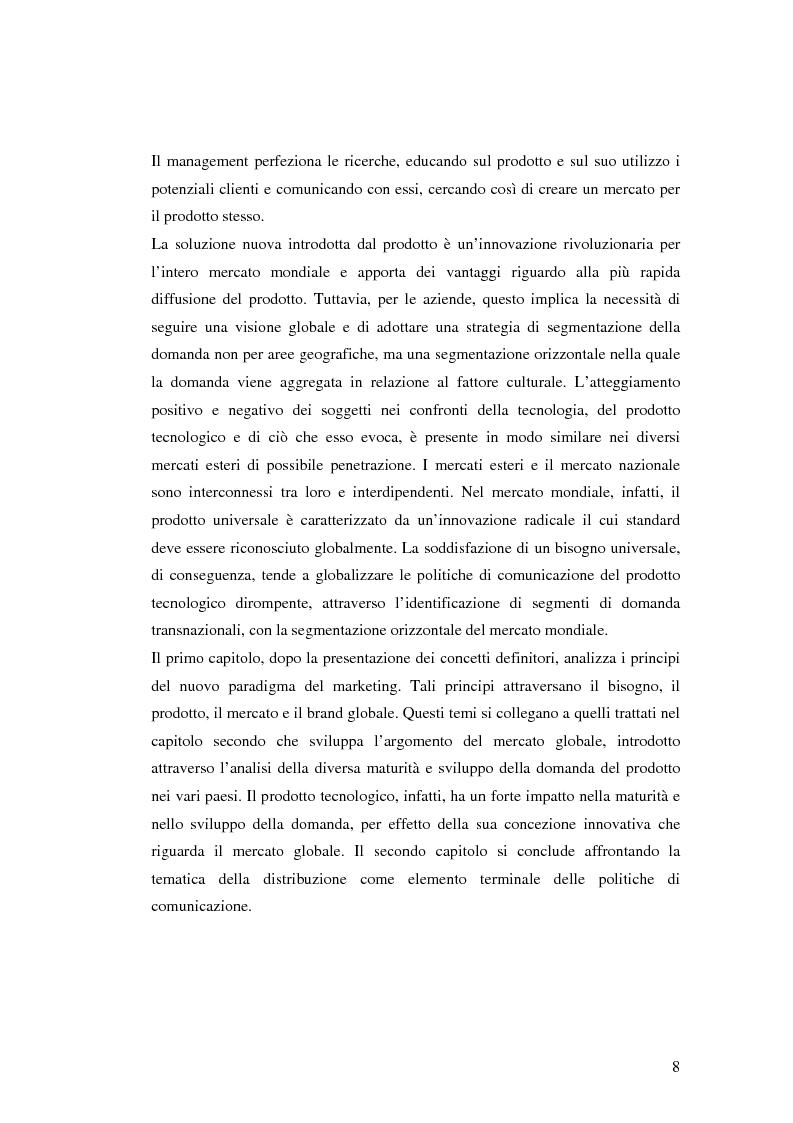 Anteprima della tesi: Le politiche di comunicazione dei prodotti tecnologici dirompenti nel mercato globale. Il caso Jepssen, Pagina 2