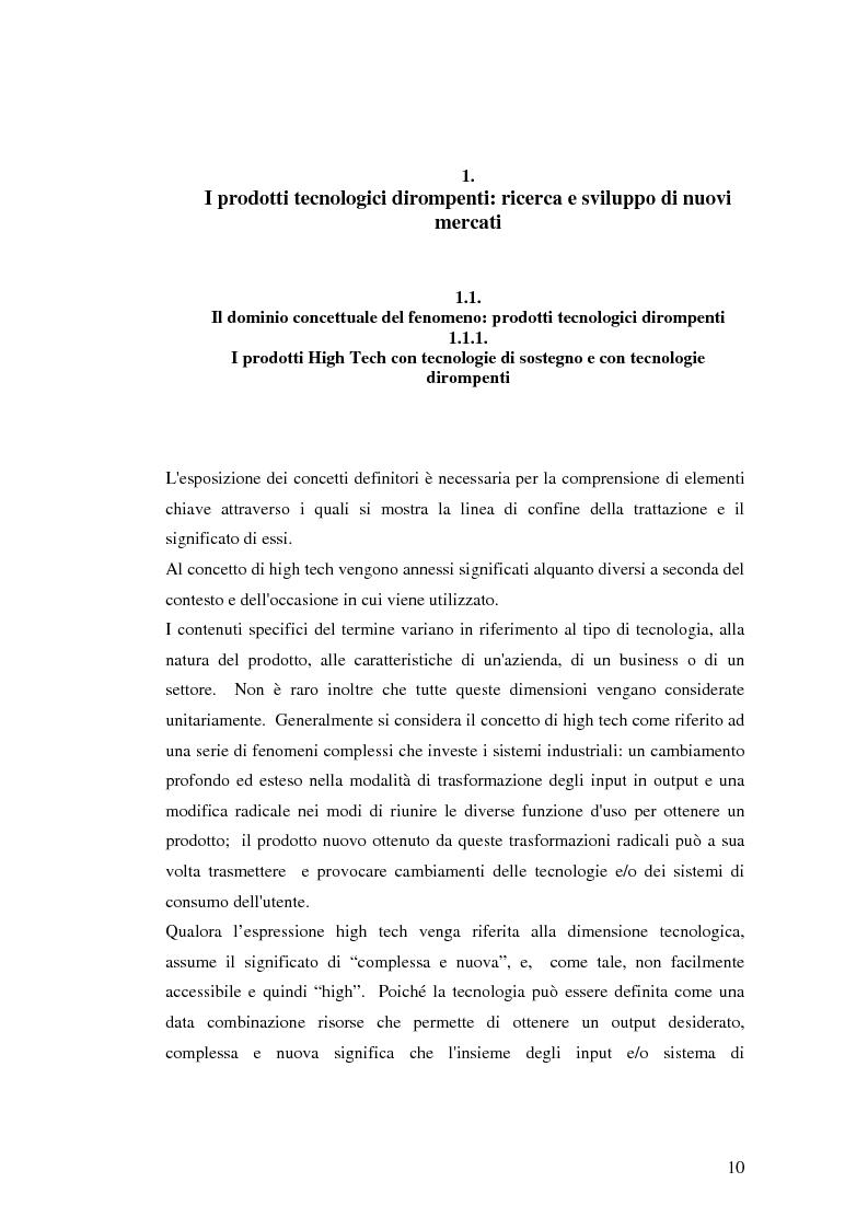 Anteprima della tesi: Le politiche di comunicazione dei prodotti tecnologici dirompenti nel mercato globale. Il caso Jepssen, Pagina 4