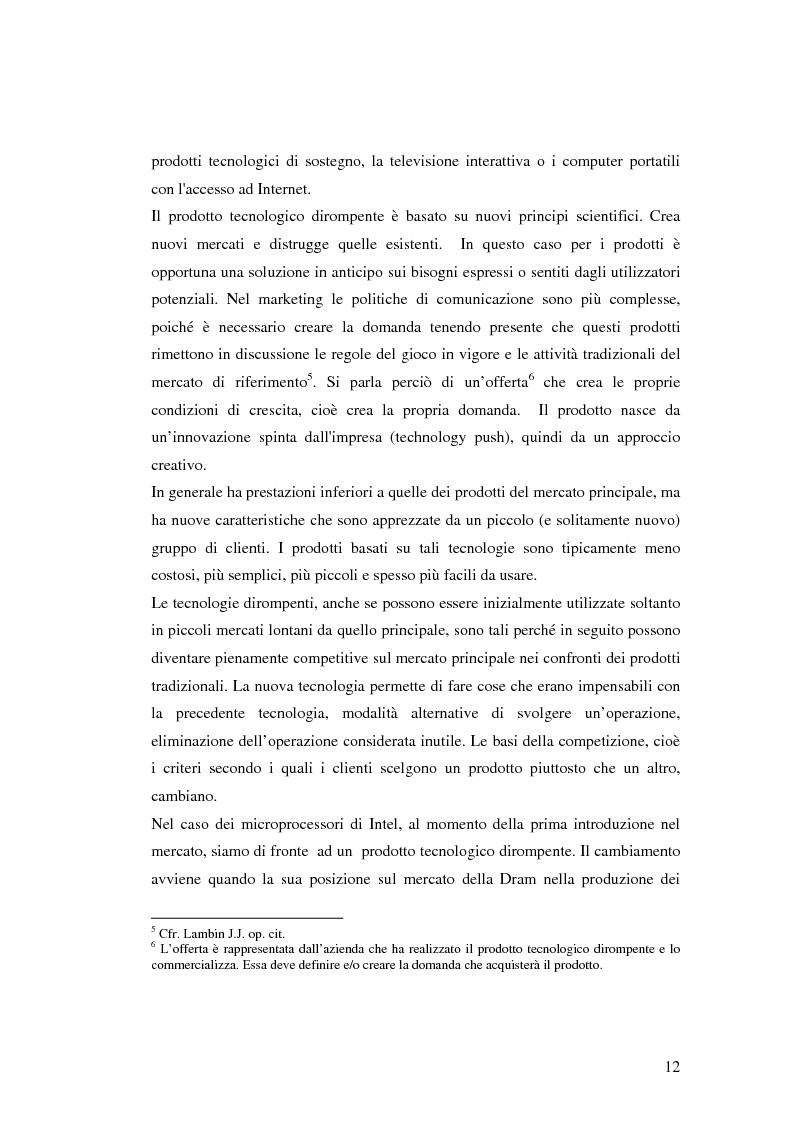 Anteprima della tesi: Le politiche di comunicazione dei prodotti tecnologici dirompenti nel mercato globale. Il caso Jepssen, Pagina 6
