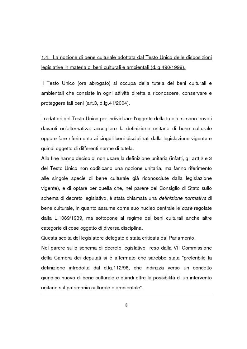 Anteprima della tesi: Beni culturali di interesse religioso, Pagina 11