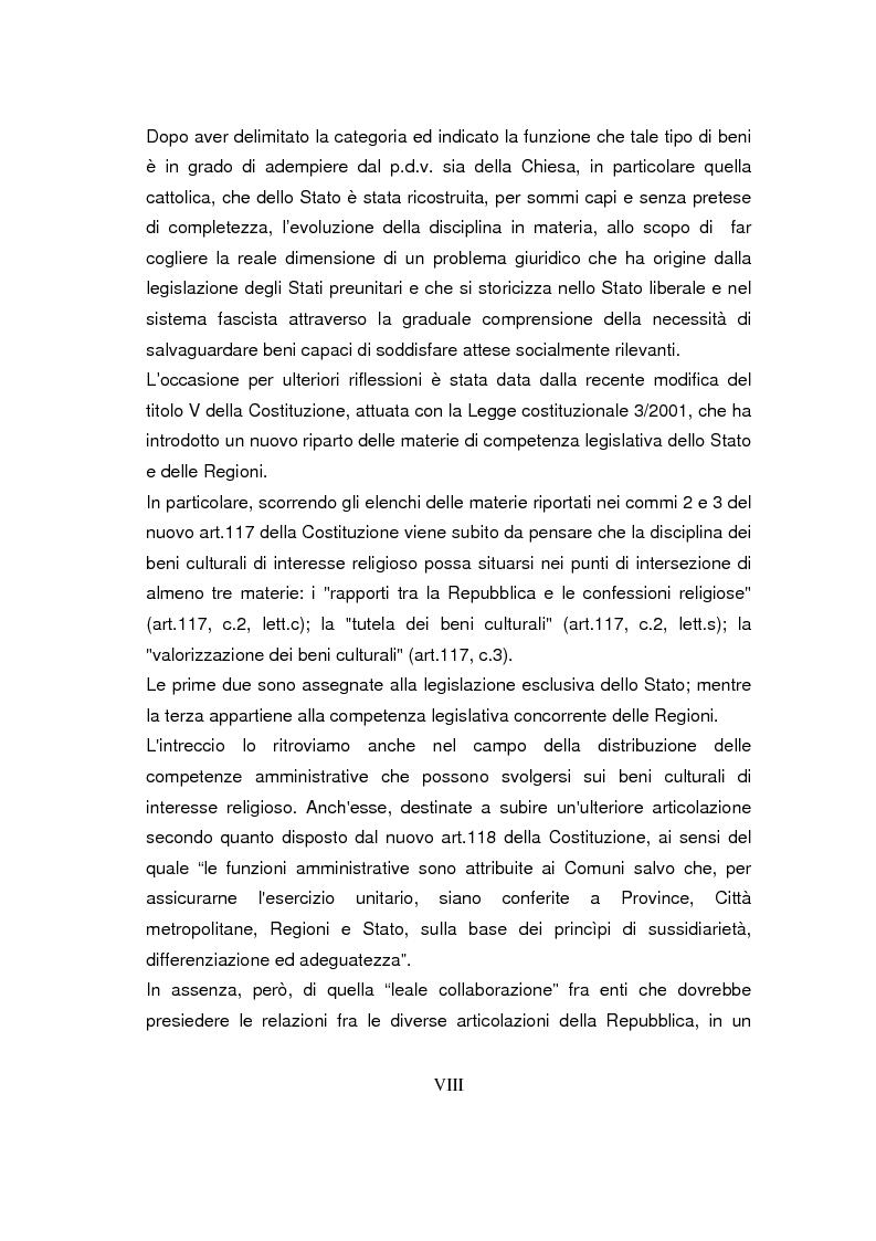 Anteprima della tesi: Beni culturali di interesse religioso, Pagina 2