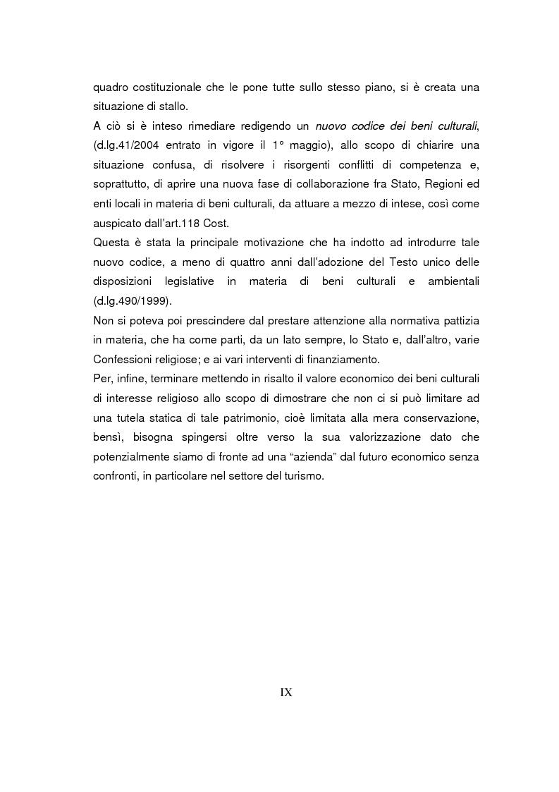 Anteprima della tesi: Beni culturali di interesse religioso, Pagina 3