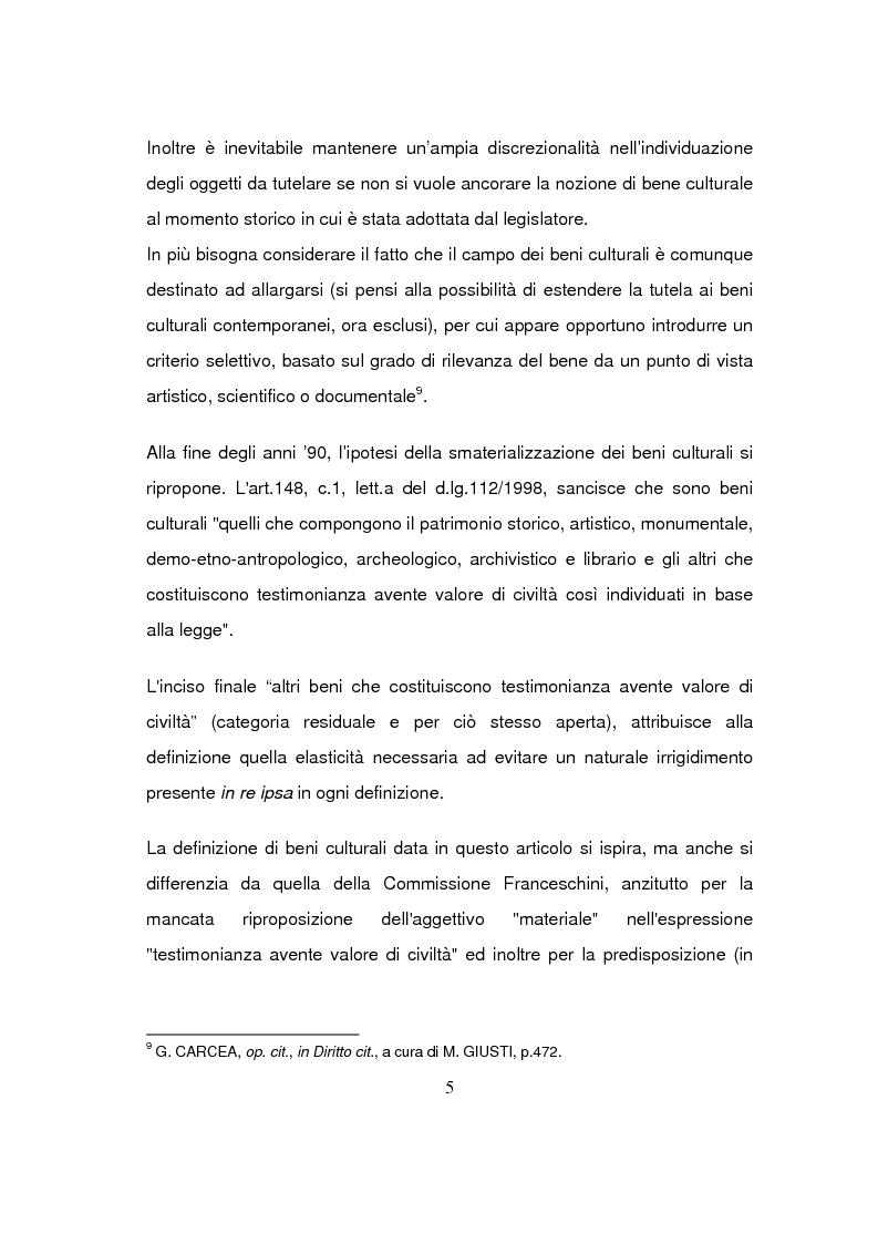 Anteprima della tesi: Beni culturali di interesse religioso, Pagina 8