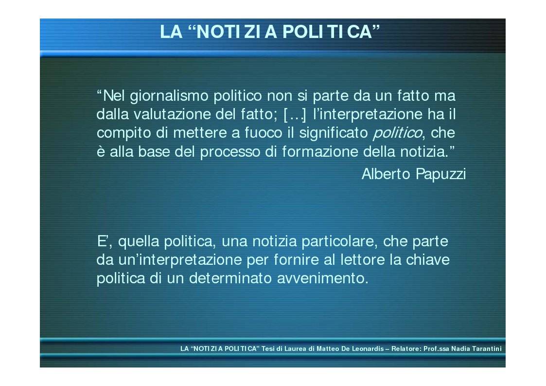 Anteprima della tesi: La ''notizia politica'', Pagina 2