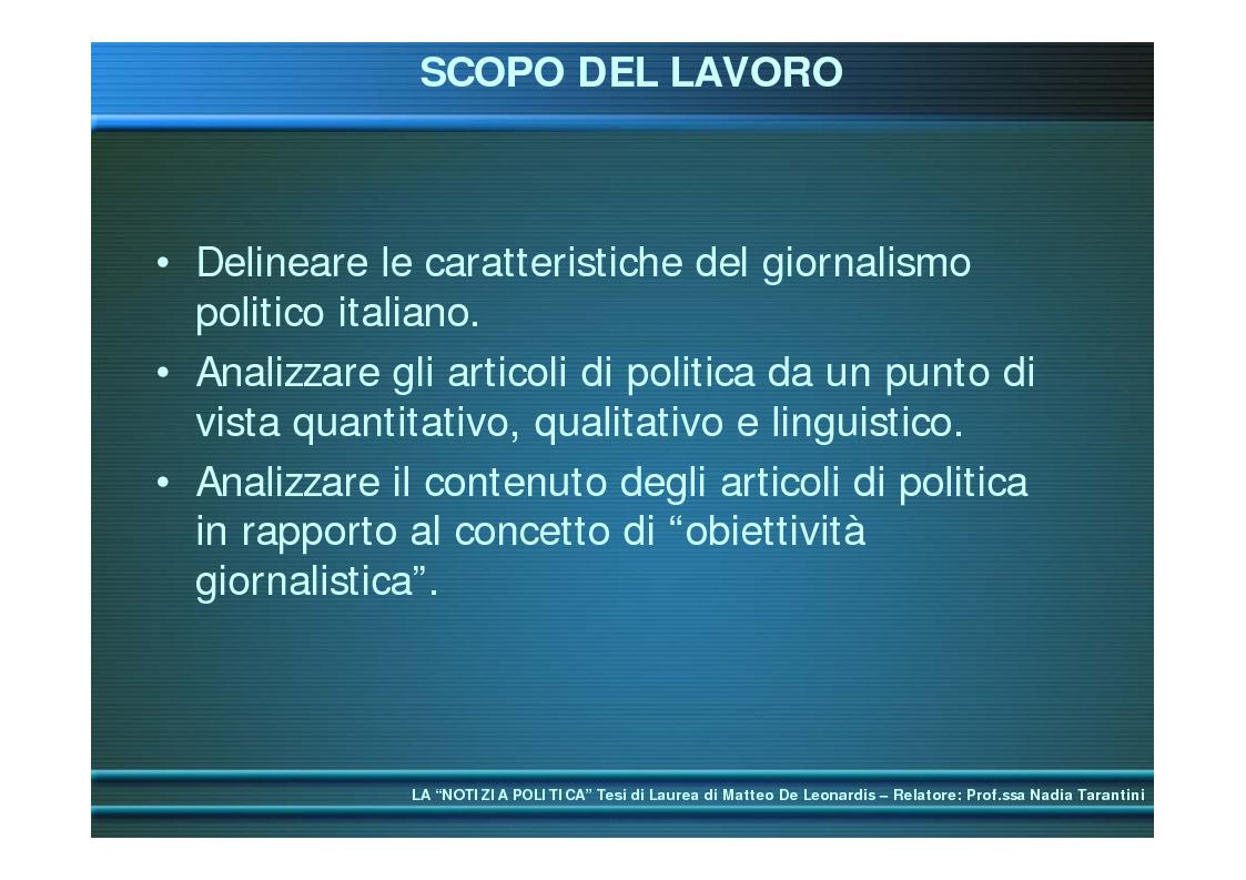 Anteprima della tesi: La ''notizia politica'', Pagina 3