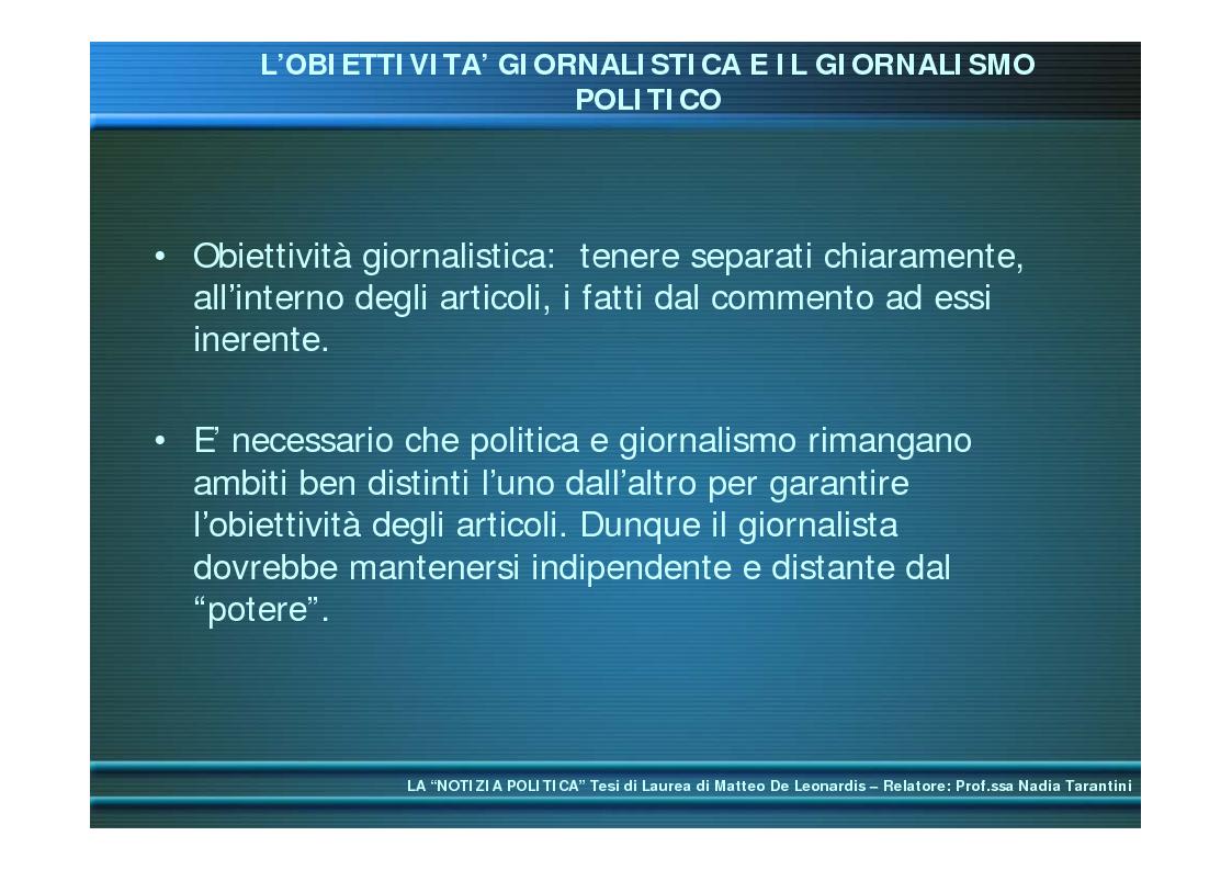 Anteprima della tesi: La ''notizia politica'', Pagina 4