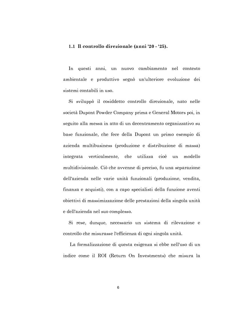 Anteprima della tesi: L'evoluzione dei sistemi di programmazione e controllo: l'Activity Based Costing, Pagina 10