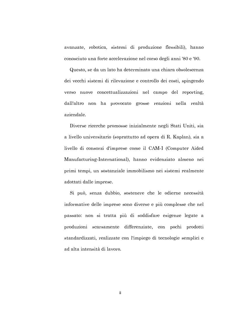 Anteprima della tesi: L'evoluzione dei sistemi di programmazione e controllo: l'Activity Based Costing, Pagina 2