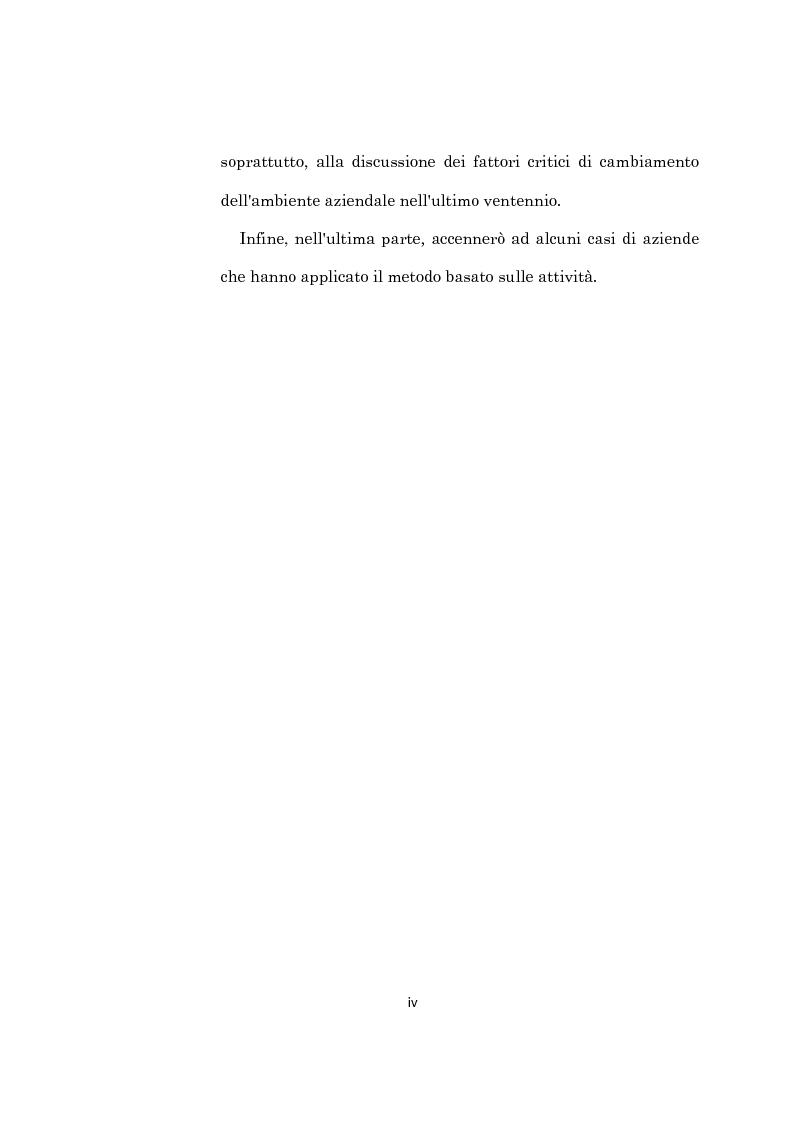 Anteprima della tesi: L'evoluzione dei sistemi di programmazione e controllo: l'Activity Based Costing, Pagina 4