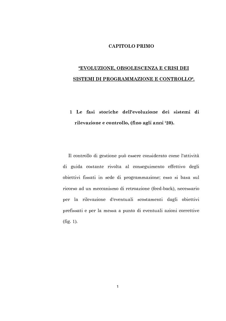 Anteprima della tesi: L'evoluzione dei sistemi di programmazione e controllo: l'Activity Based Costing, Pagina 5