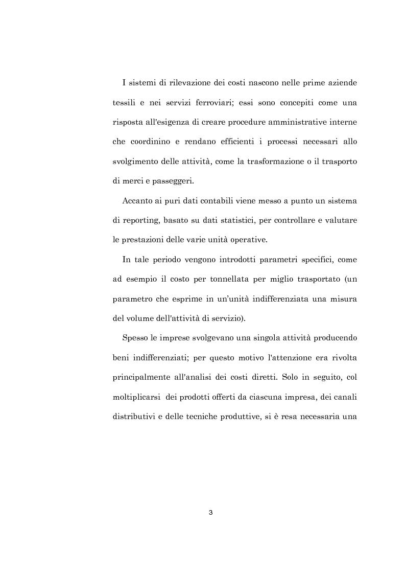 Anteprima della tesi: L'evoluzione dei sistemi di programmazione e controllo: l'Activity Based Costing, Pagina 7