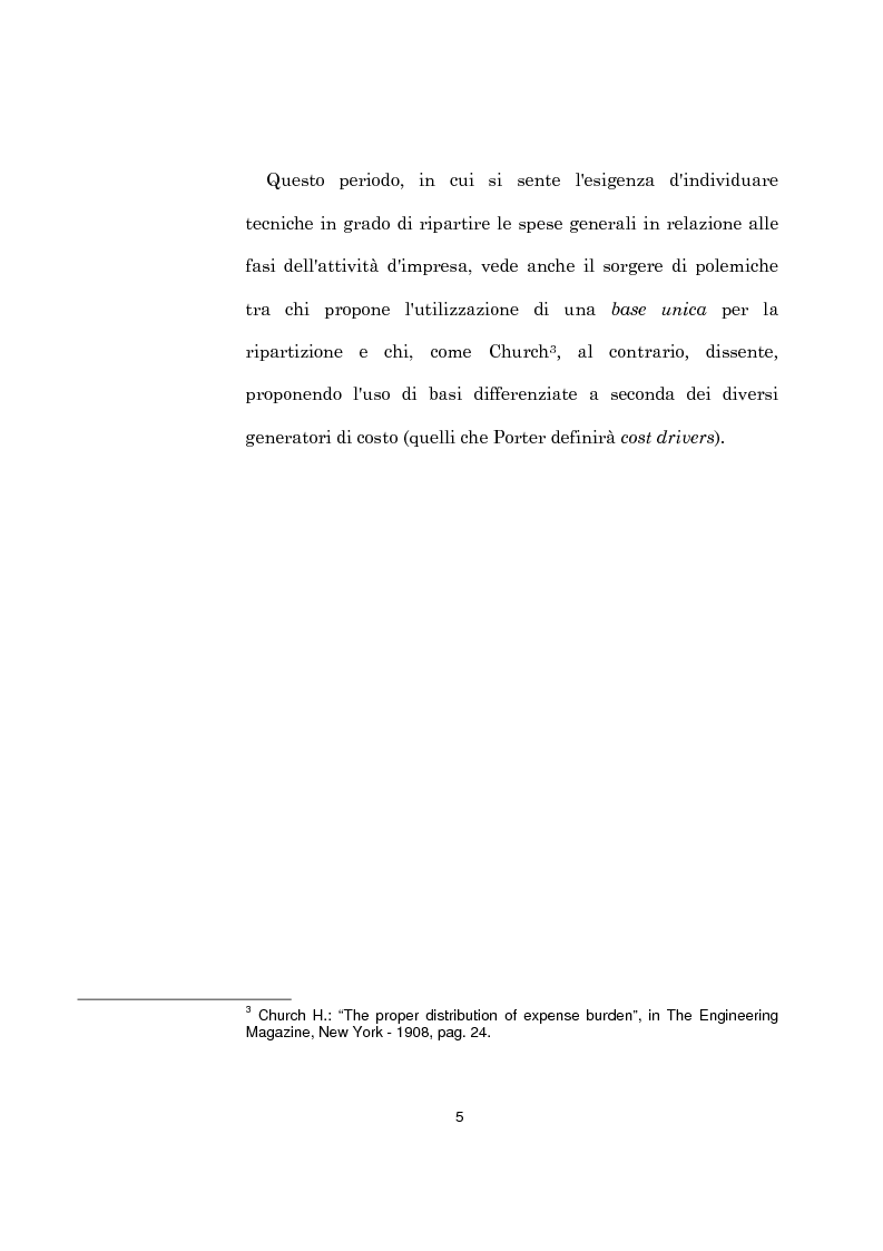 Anteprima della tesi: L'evoluzione dei sistemi di programmazione e controllo: l'Activity Based Costing, Pagina 9