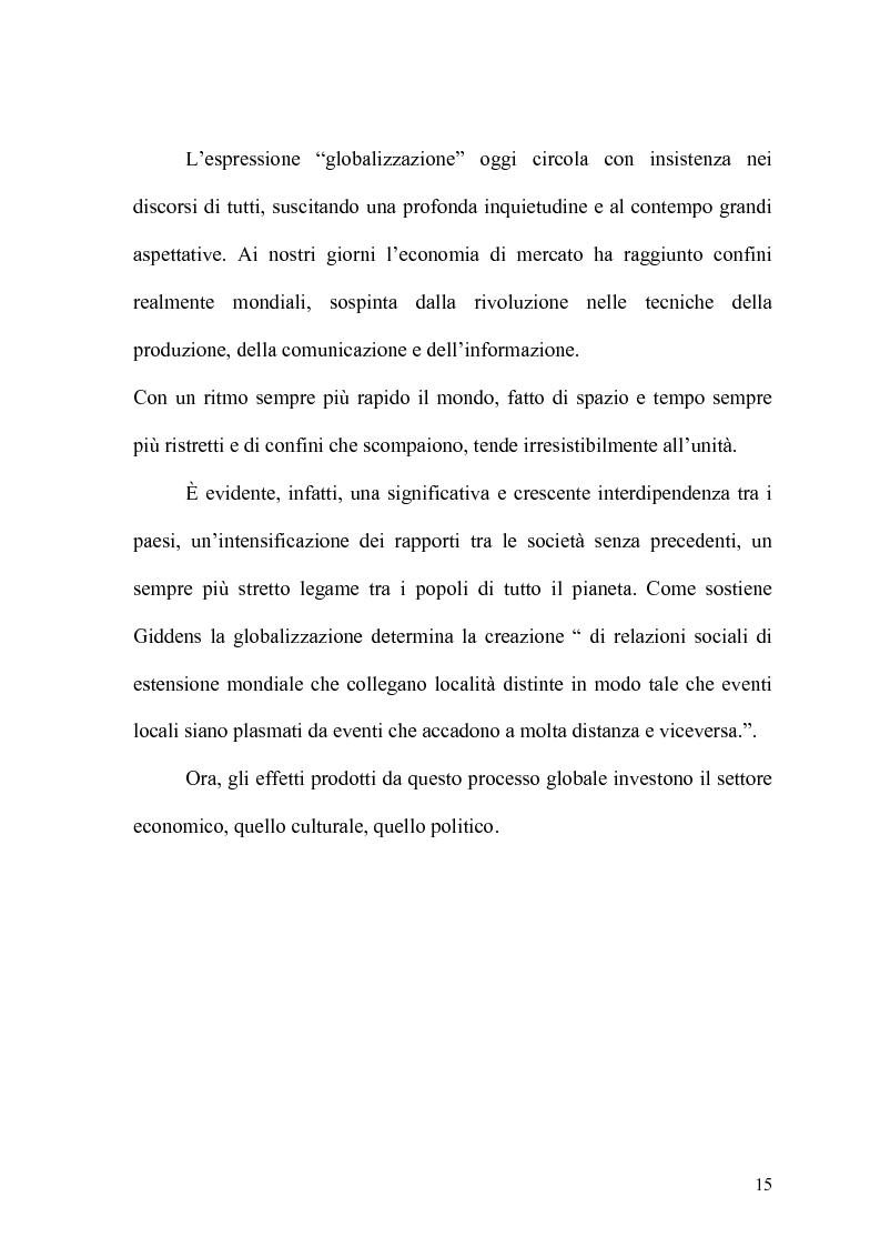 Anteprima della tesi: Globalizzazione e salvaguardia dell'ambiente, Pagina 10