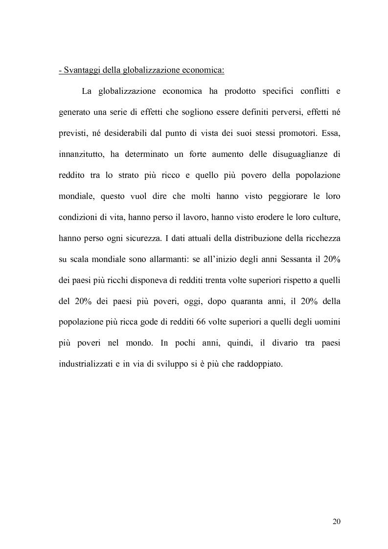 Anteprima della tesi: Globalizzazione e salvaguardia dell'ambiente, Pagina 15