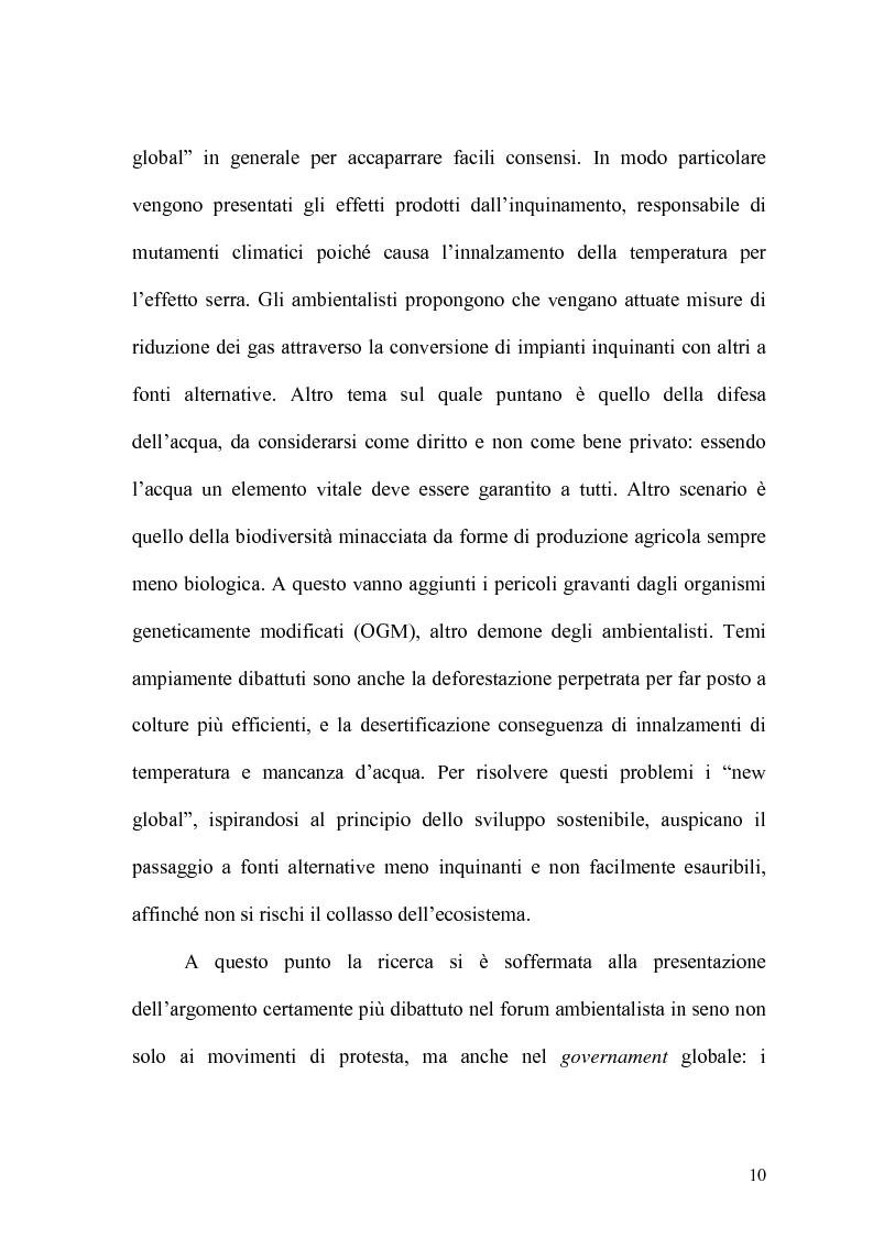 Anteprima della tesi: Globalizzazione e salvaguardia dell'ambiente, Pagina 5