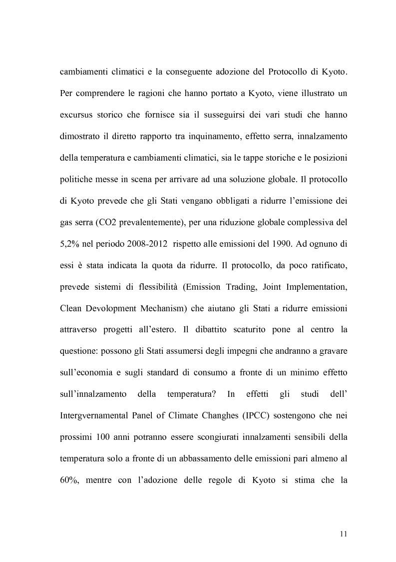 Anteprima della tesi: Globalizzazione e salvaguardia dell'ambiente, Pagina 6